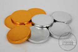 Plain gold & silver coins