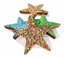 Chocolate Christmas Freckle Stars