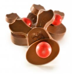 Chocolate Reindeer Head